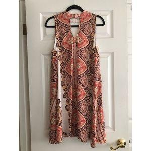 [XHILARATION] Patterned Swing Dress